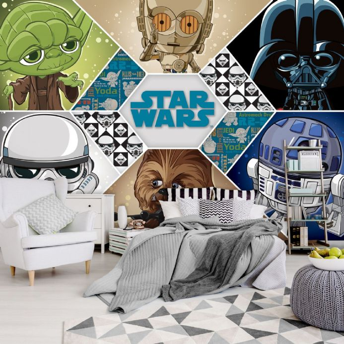 Star Wars Disney Collage wall murals for wall | Homewallmurals.co.uk